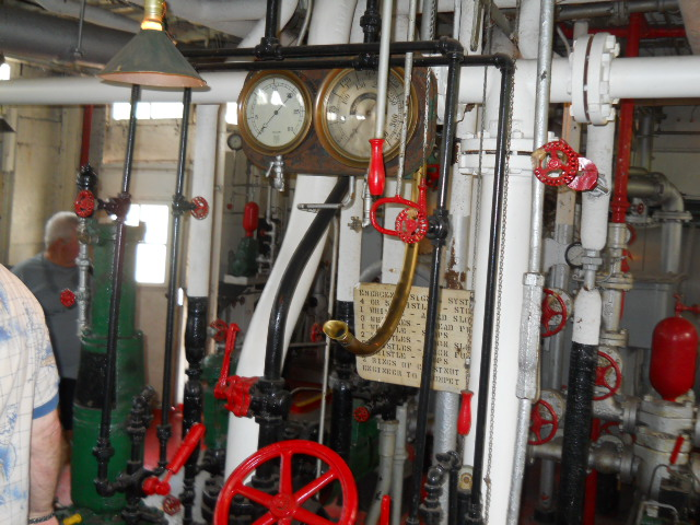colorful engine room of the jp snyder steam boat ohio