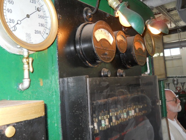 colorful engine room from steamship